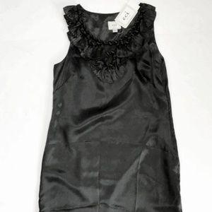 Eci New York black silk dress. Size 4 NWT